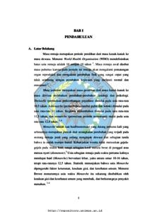 Hubungan Pengetahuan Dan Sikap Tentang Menstruasi Dengan Perilaku Personal Hygiene Pada Saat Menstruasi Pada Remaja Putri Studi Pada Siswi Kelas Vii Smp Negeri 2 Tanjung Brebes Repository Universitas Muhammadiyah Semarang